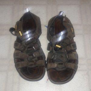 Keen open toe sandal brown waterproof shoe summer
